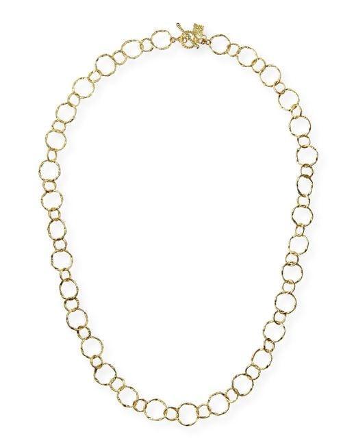 Armenta | Metallic 18k Yellow Gold Circle Necklace | Lyst