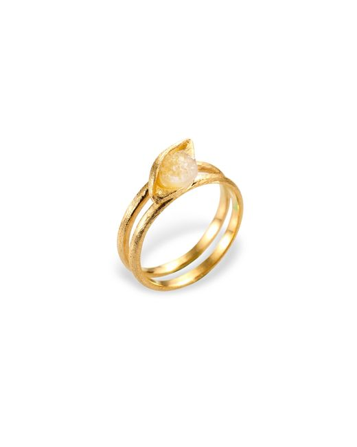 Ona Chan Jewelry | Metallic Eye Ring With Druzy Gold | Lyst