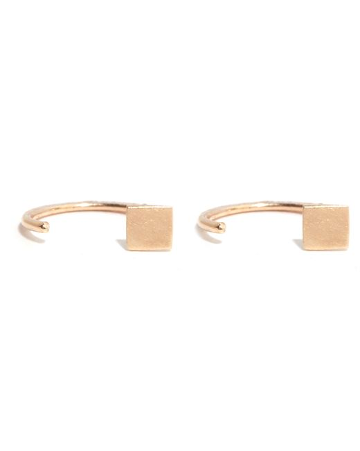 Melissa Joy Manning | Metallic Solid Square Hug Hoops | Lyst