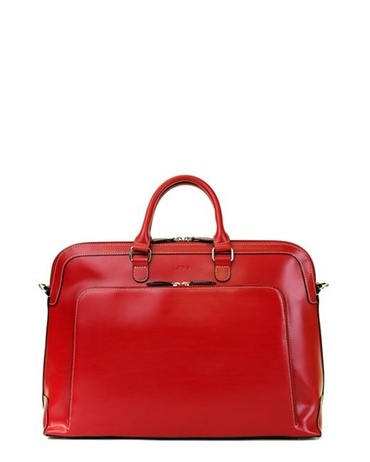 Lodis | Red 'audrey Brera' Leather Briefcase | Lyst
