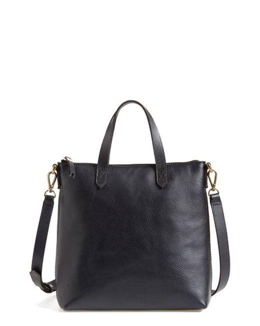 Madewell | Black Mini Transport Leather Crossbody Bag | Lyst