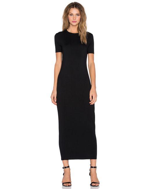 Blq Basiq Maxi T Shirt Dress In Black Lyst