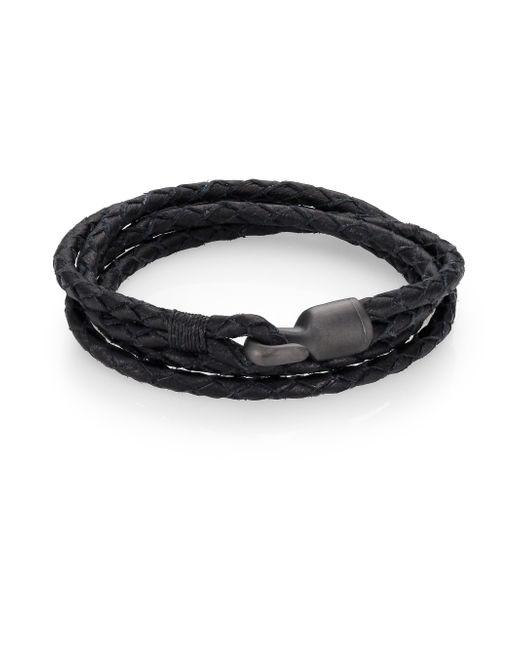 Miansai | Black Pvd Coated Brass  Leather Bracelet for Men | Lyst