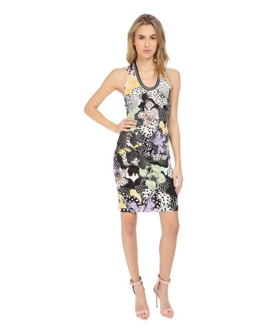 Just cavalli orchid fish print cocktail dress in for Fish print dress