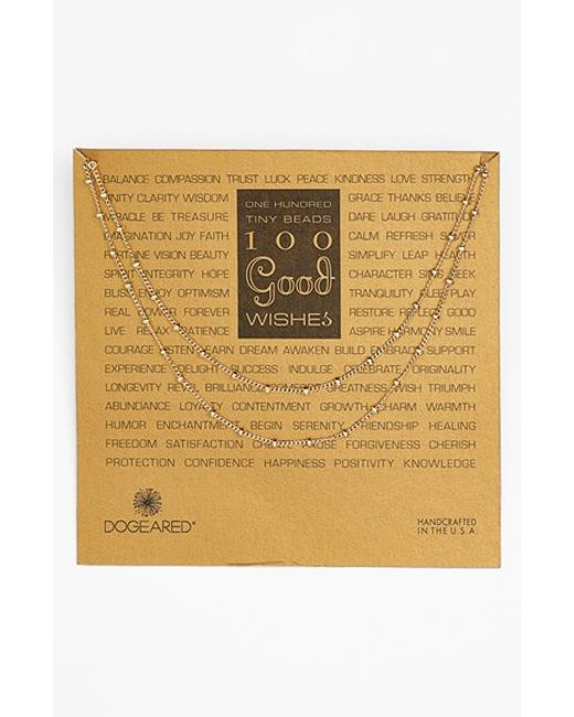 Dogeared | Metallic '100 Good Wishes' Long Station Necklace | Lyst