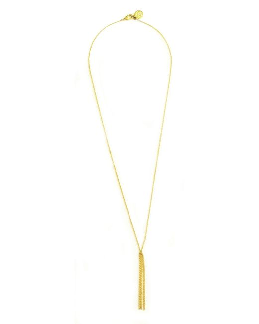 Cloverpost   Metallic Dangle Necklace   Lyst