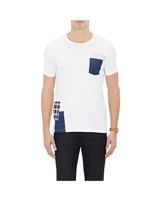 Barneys new york men s patch embellished jersey t shirt in