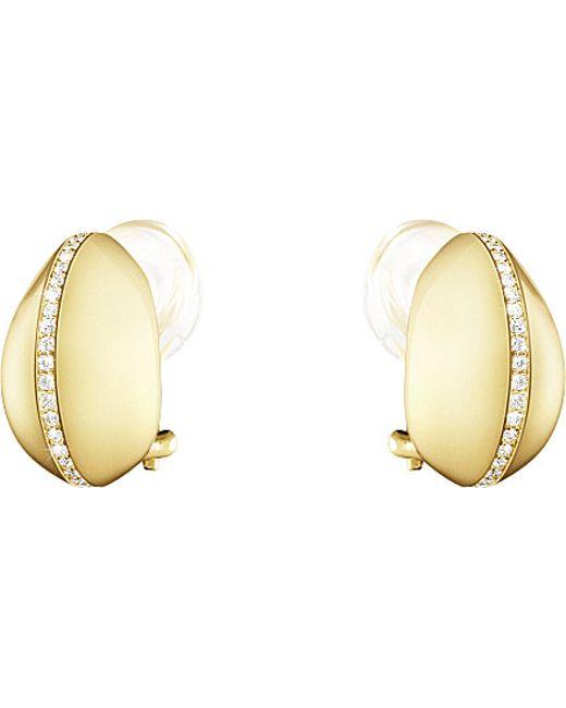 Georg Jensen | Dune 18ct Yellow-gold And Diamond Earrings | Lyst