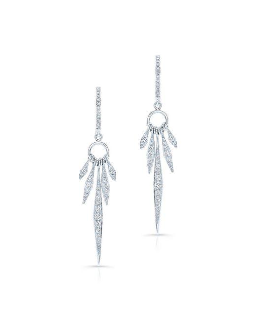 Anne Sisteron   Metallic 14kt White Gold Diamond Dream Catcher Earrings   Lyst