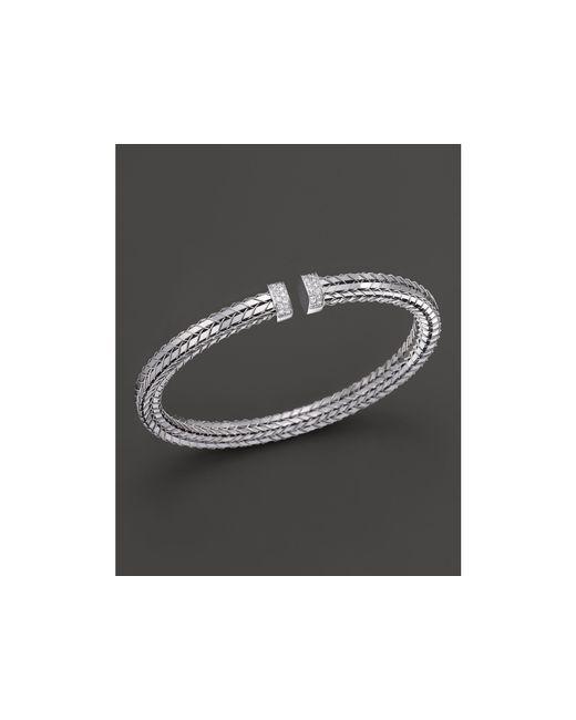 Roberto Coin | Metallic 18k White Gold Diamond Bracelet | Lyst