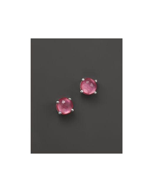 Ippolita   Pink Rock Candy Mini Stud Earrings In Peony   Lyst
