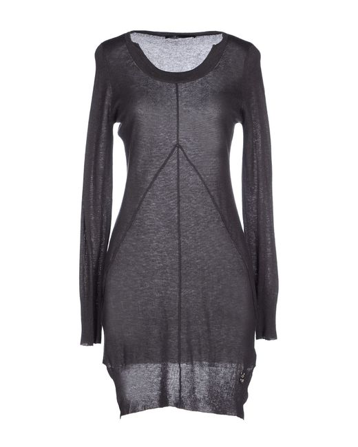 GAUDI   Gray Short Dress   Lyst