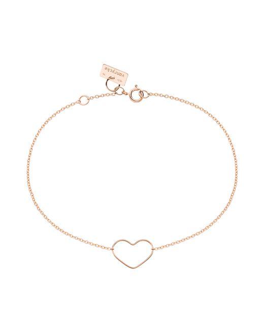 Vanrycke | Metallic Mini Heart Outline Bracelet In Pink Gold | Lyst