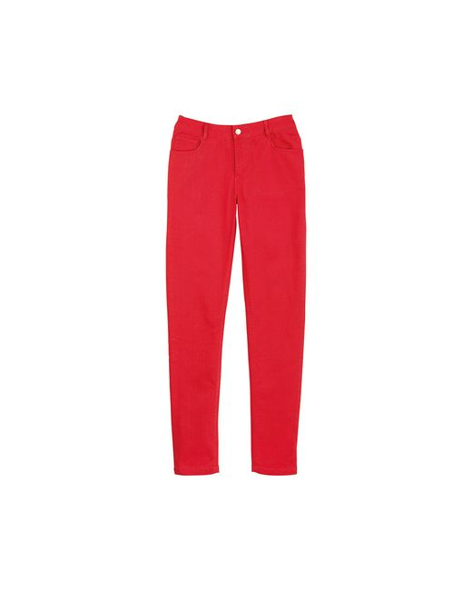 Petit Bateau | Red Women's Slim Pants In Stretch Cotton Cloth | Lyst