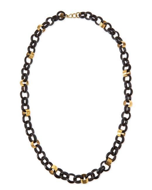 Ashley Pittman | Metallic Jinsi Dark Horn Round Chain Necklace | Lyst
