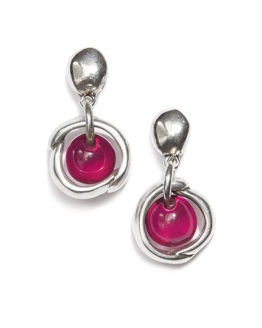 Uno De 50 | Metallic Swarovski Crystal Drop Earrings | Lyst