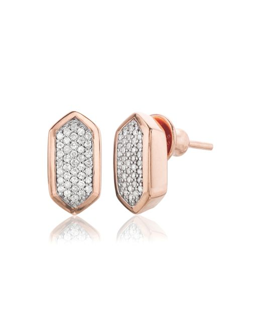 Monica Vinader | Pink Baja Stud Earrings | Lyst