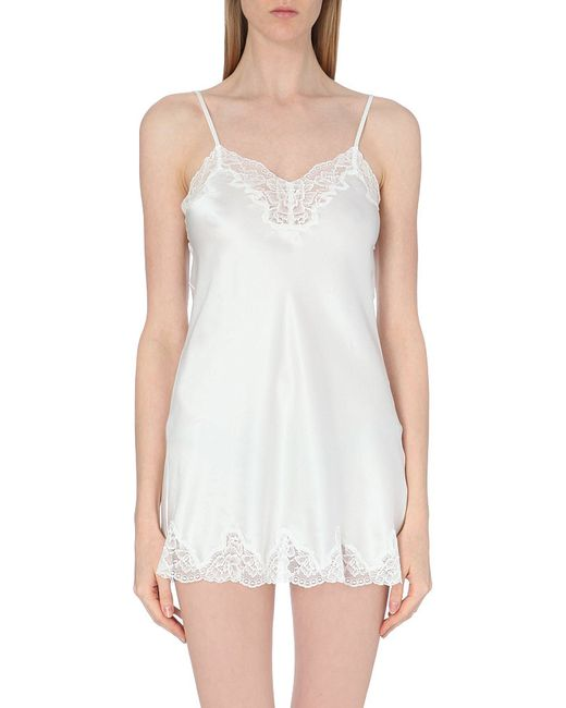 Nk Imode | White Morgan Silk-satin And Lace Chemise | Lyst