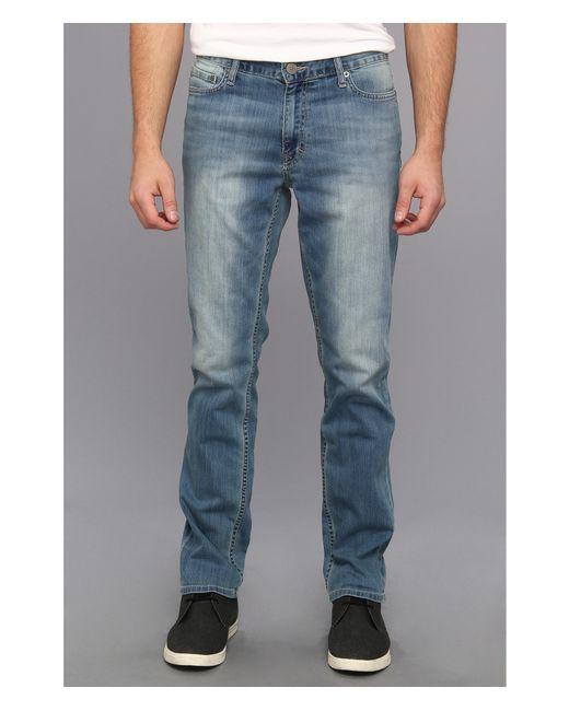 calvin klein jeans slim straight denim in silver bullet in. Black Bedroom Furniture Sets. Home Design Ideas