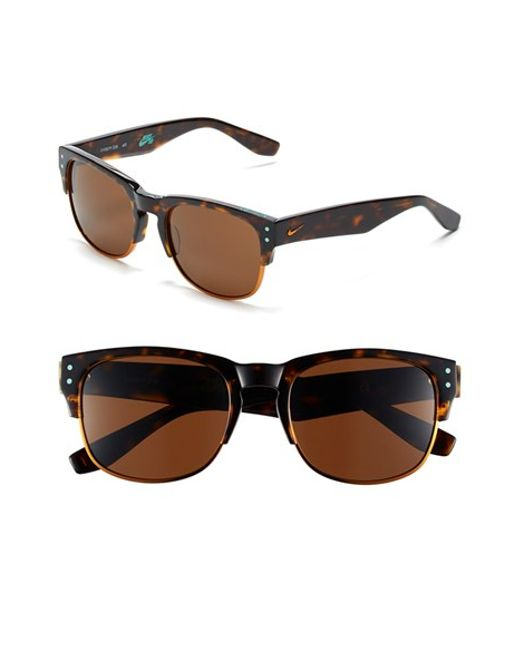 Nike | Brown 'volition' 54mm Sunglasses | Lyst