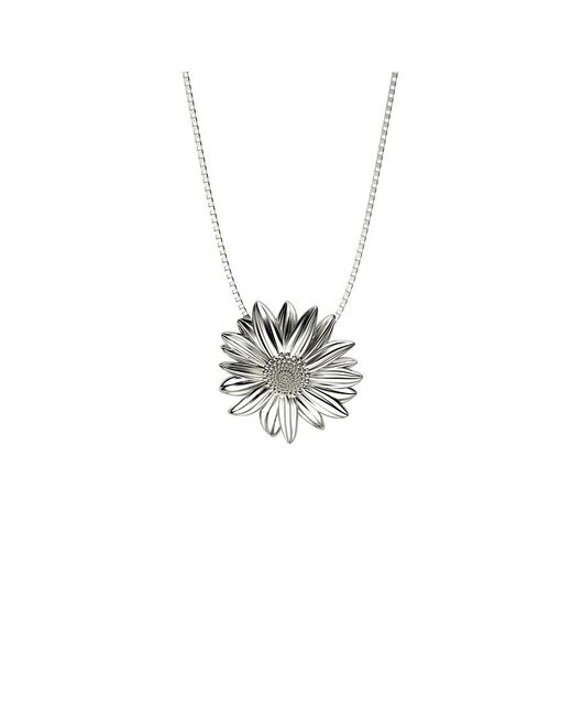 Azendi | Metallic Sterling Silver Daisy Pendant | Lyst