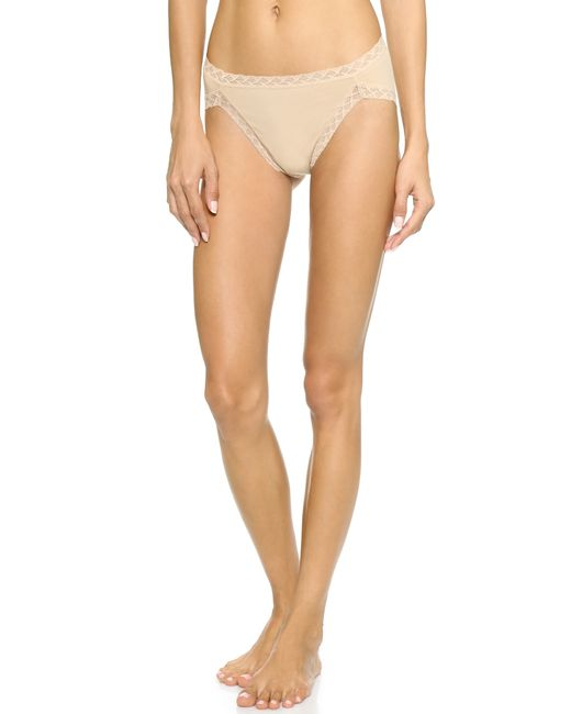 Natori Bliss Cotton French Cut Bikini Briefs in Brown ...
