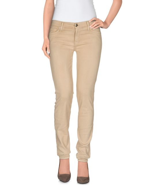 7 For All Mankind | Natural Denim Pants | Lyst