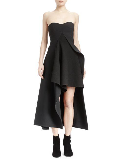 Stella McCartney | Black Strapless Split-front Asymmetric Gown | Lyst