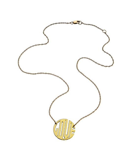 Jennifer Zeuner | Metallic Mini Art Deco Love Necklace | Lyst