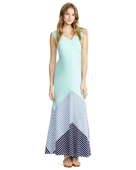 Jessica Simpson Maternity Striped Maxi Dress In Blue Blue