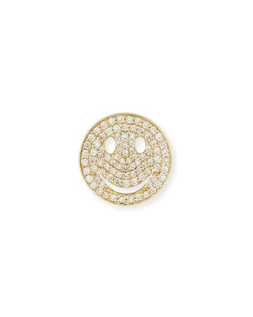 Sydney Evan | Metallic Pavé Diamond Happy Face Earrings | Lyst