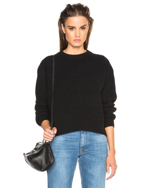 Acne | Black Java Rib Sweater | Lyst