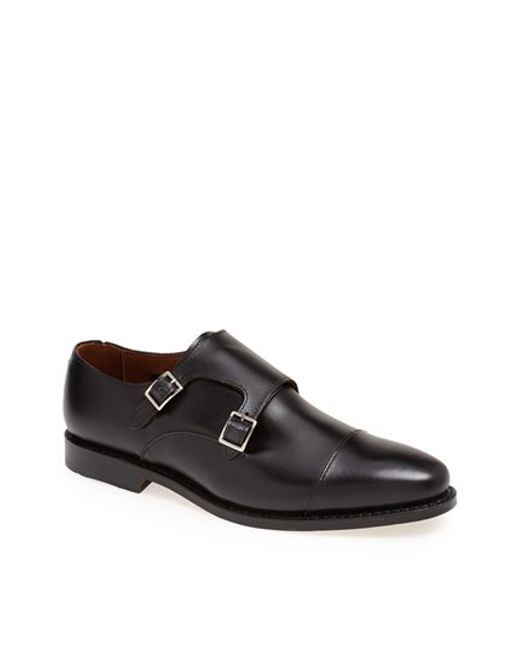 Allen Edmonds | Black 'mora' Double Monk Shoe for Men | Lyst