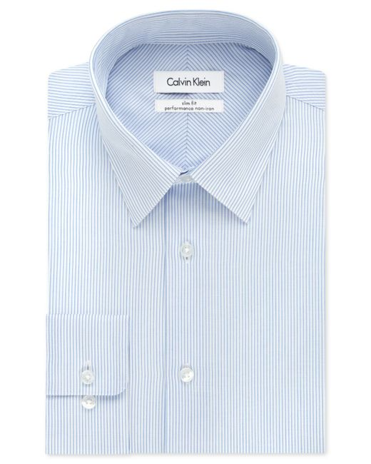 calvin klein steel classic fit non iron performance ice