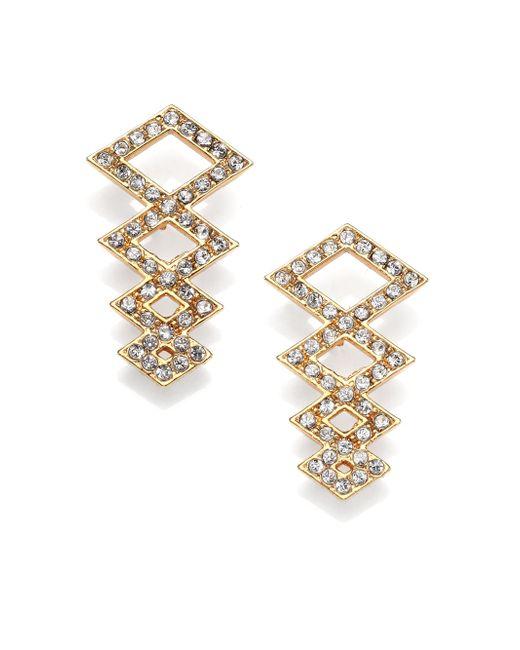 Ca&Lou | Metallic Sacha Crystal Earrings | Lyst