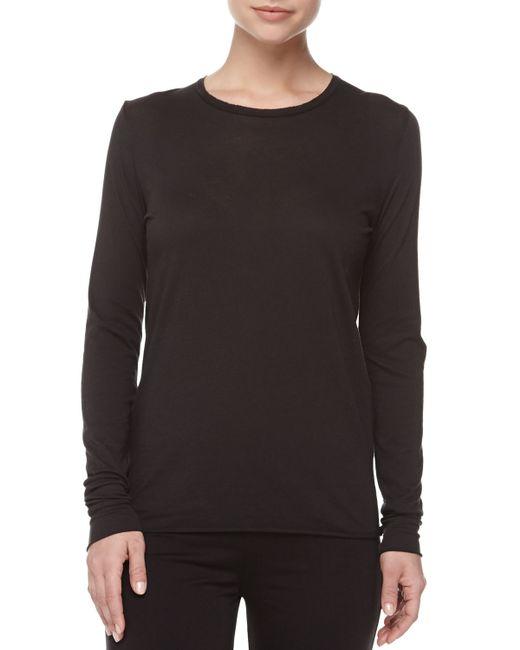Skin   White Long-sleeve Cotton Crewneck Lounge Shirt   Lyst
