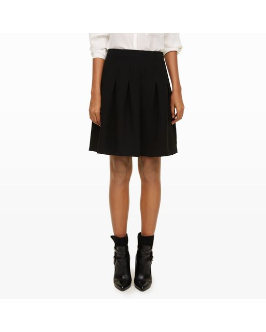 Club Monaco | Black Nella Pleated Skirt | Lyst