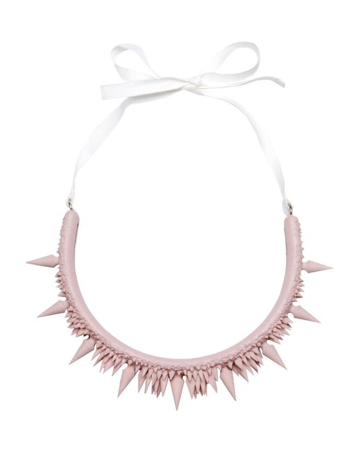 MM6 by Maison Martin Margiela | Pink Necklace | Lyst