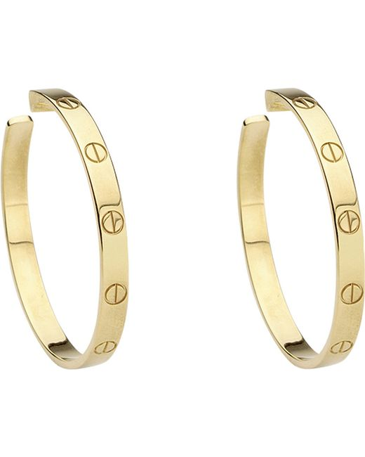 Cartier | Love 18ct Yellow-gold Earrings | Lyst