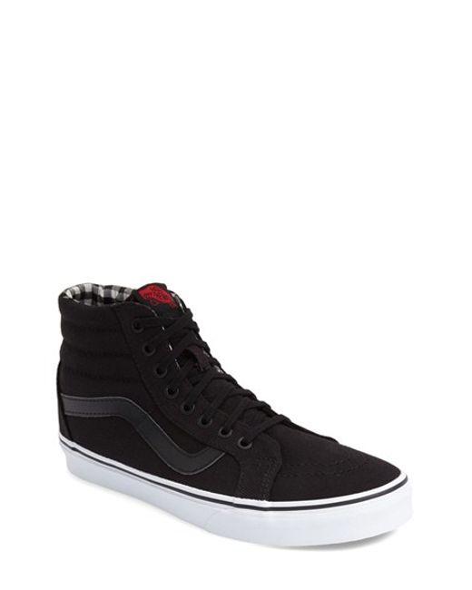 vans 39 sk8 hi reissue 39 sneaker in black for men black true white twill lyst. Black Bedroom Furniture Sets. Home Design Ideas