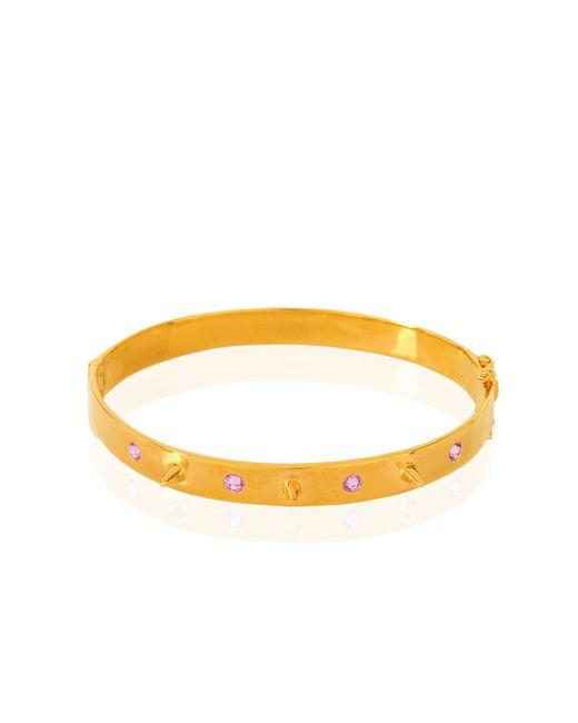 Alexandra Alberta | Metallic Liberty Pink Sapphire Bracelet | Lyst