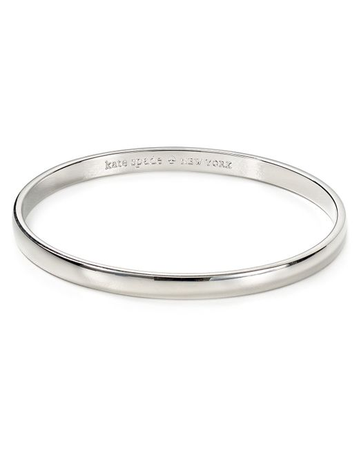 Kate Spade | Metallic Find The Silver Lining Idiom Bangle | Lyst
