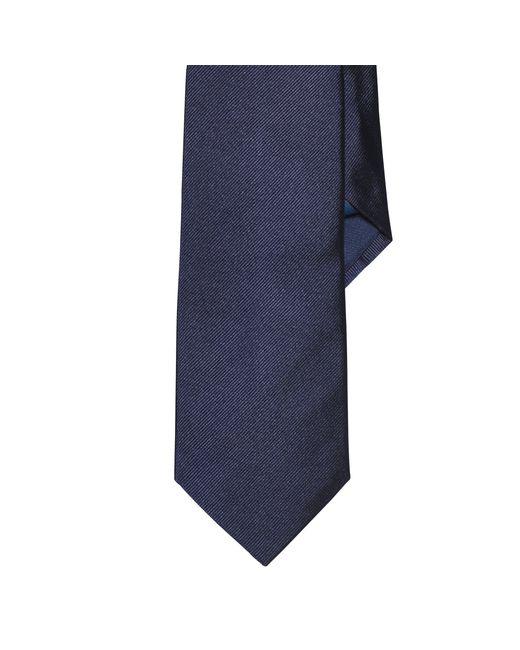 Polo Ralph Lauren | Blue Solid Silk Repp Tie for Men | Lyst