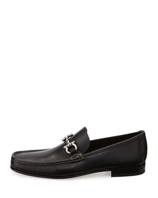 Ferragamo   Black Giordano Calfskin Gancini Loafer for Men   Lyst