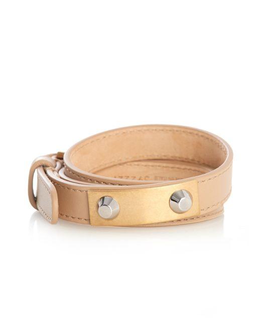 Balenciaga | Natural Stud Wrap-Around Leather Bracelet | Lyst