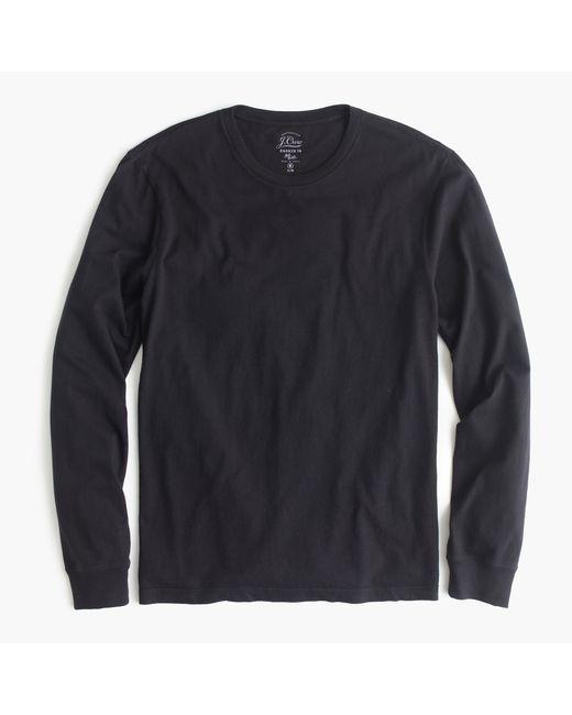 J.Crew   Black Slim Broken-in Long-sleeve T-shirt for Men   Lyst