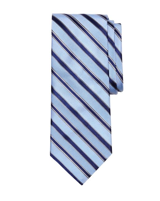 Brooks Brothers | Blue Mixed Weave Stripe Tie for Men | Lyst
