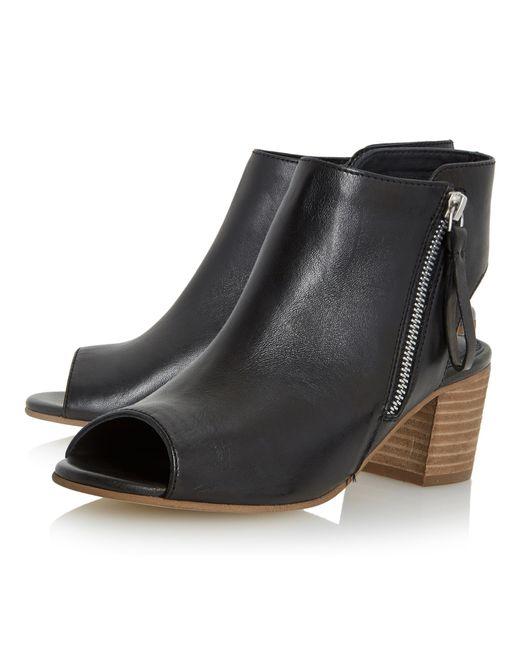 dune joselyn block heeled shoe boots in black lyst