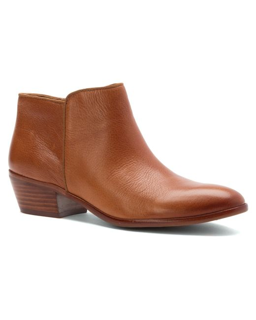 sam edelman petty leather ankle boots in brown save 67