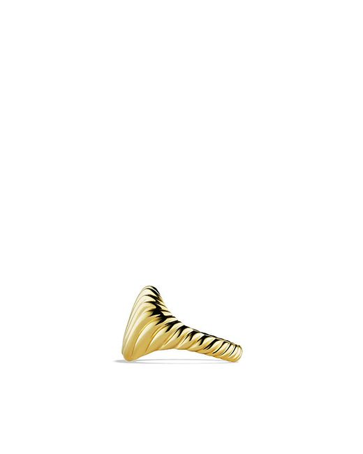 David Yurman   Metallic Sculpted Cable Pinky Ring In 18k Gold   Lyst